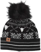 Obermeyer Dallas Knit Pom Hat (Black) Beanies