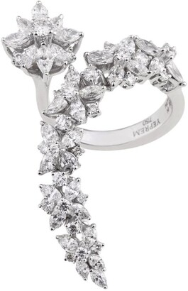 YEPREM White Gold and Diamond Y-Not Wreath Ring