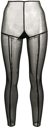 Ann Demeulemeester Sheer Slim-Fit Leggings