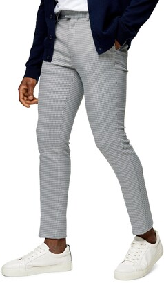 Topman Pupstooth Skinny Fit Pull-On Trousers
