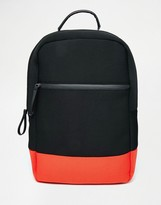 Asos Backpack In Scuba With Contrast
