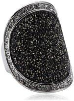 Dyrberg/Kern Vanity - Galaxy 334530 Swarovski Crystal Brass Ring Size S 1/2