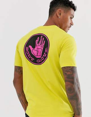 Body Glove Core Logo t-shirt with back print in lime-Green