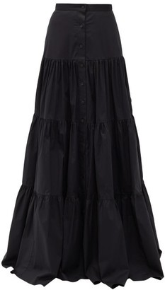 Brock Collection Tiered Cotton-blend Skirt - Black
