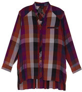 Melissa McCarthy Plus Plaid Long Sleeve Button Down Shirt