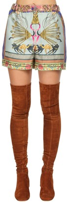 Etro Printed Silk Twill Shorts
