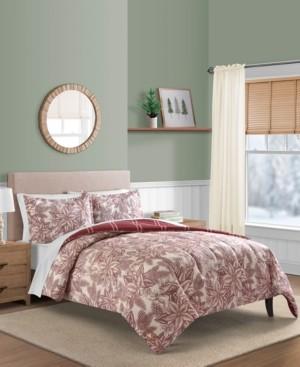 Sunham Poinsettia 2-Pc. Reversible Twin Comforter Set Bedding