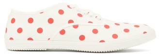 Comme des Garcons Polka-dot Canvas Trainers - Womens - Red White