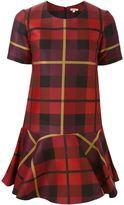 P.A.R.O.S.H. checked peplum dress