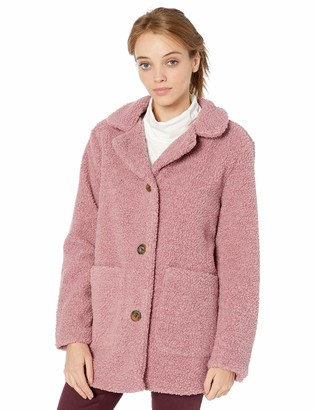Pink Platinum Women's Plus Size Teddy Fur Jacket