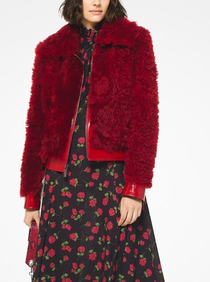 Michael Kors Collection Shearling Bomber Jacket