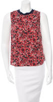 Cacharel Abstract Print Knit-Trimmed Top