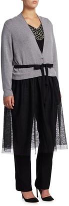 Nic+Zoe, Plus Size Tulle Time Cardigan