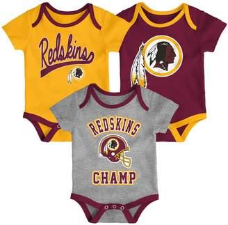 Redskins Unbranded Baby NFL Washington Champ Bodysuit 3-Pack