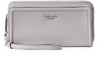 Kate Spade Anita Double-Zip Leather Wristlet Wallet