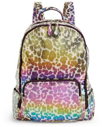 Bari Lynn Leopard Print Backpack