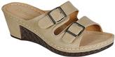 Refresh Taupe Buckle Walnut Sandal