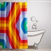 Rave Rainbow Shower Curtain