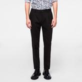 Paul Smith Men's Slim-Fit Black Cotton-Blend Denim Pleated Trousers