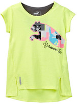 Puma Graphic Cap Sleeve Top with Racerback Detail (Little Girls)