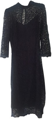 MANGO Black Lace Dress for Women