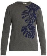Valentino Palm leaf-intarsia cashmere sweater
