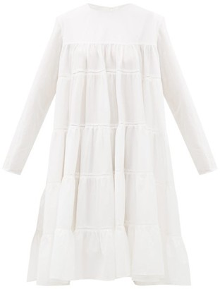 Merlette New York Essaouria Tiered Cotton-lawn Midi Dress - Womens - White