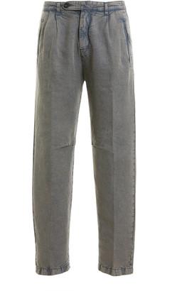 Massimo Alba Cotton and Linen Cargo Pants