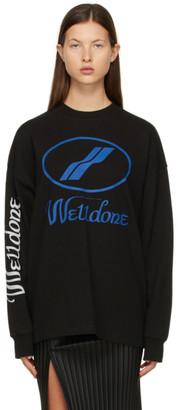 we11done Black Logo Long Sleeve T-Shirt