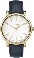 Timex Originals Modern Womens Blue Leather Strap Watch TW2P63400AB