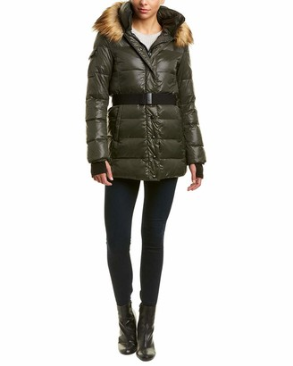 S13 Women's Karlie Mid Length Belted Down Coat