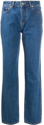Ganni Straight-Leg High-Rise Jeans