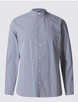 Limited Edition Long Sleeve Gingham Grandad Collar Shirt