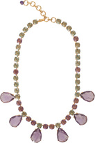 Bounkit Green Crystal & Amethyst Necklace