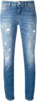 Dolce & Gabbana distressed skinny jeans - women - Cotton/Leather/Spandex/Elastane - 46