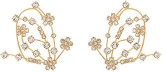 Panconesi Crystal-Embellished Floral Earrings