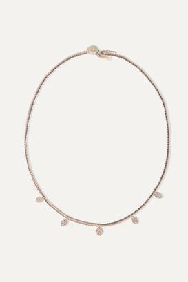 Brooke Gregson Sterling Silver, 14-karat Rose Gold, Silk And Diamond Necklace