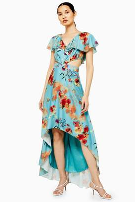 Womens **Multicoloured Printed Maxi Dress By Lace & Beads - Multi