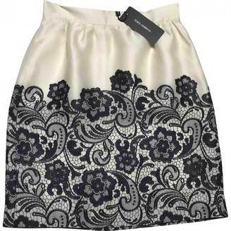 Dolce & Gabbana Beige Silk Skirt for Women