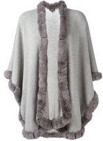 N.Peal cashmere furry trim cardi-coat - women - Rabbit Fur/Cashmere - One Size