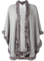 N.Peal furry trim cardi-coat - women - Rabbit Fur/Cashmere - One Size