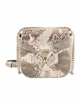 Bvlgari Snakeskin Crossbody Bag w/ Tags metallic