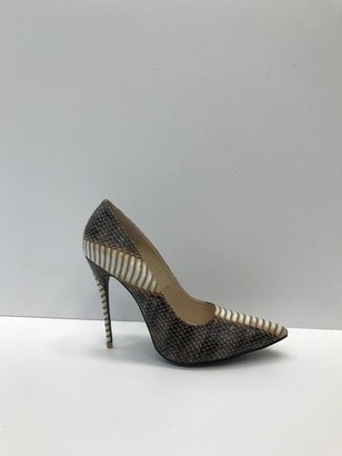Collection & Co - Tia Brown Tiger Print Heels - 40 / Rust / PU Leather