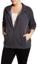 Z By Zella Double Diamond Fleece Jacket (Plus Size)