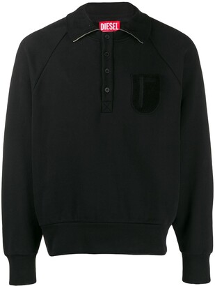 Diesel Red Tag Patch Polo Sweater