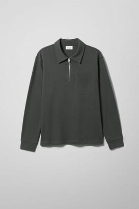 Weekday Simon Half Zip Long Sleeve - Grey