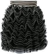 Alexander McQueen knitted ruffle mini skirt