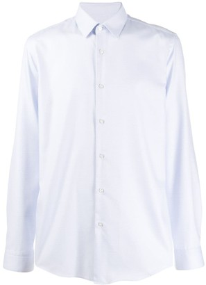 BOSS micro dotted button shirt