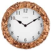 La Crosse Technology LaCrosse Technology Palm Leaf Wrapped Wall Clock