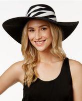 Vince Camuto Stripe Scarf Floppy Sun Hat